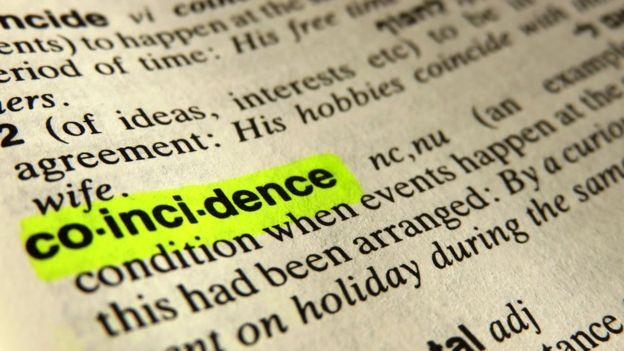 dictionary showing coincidence
